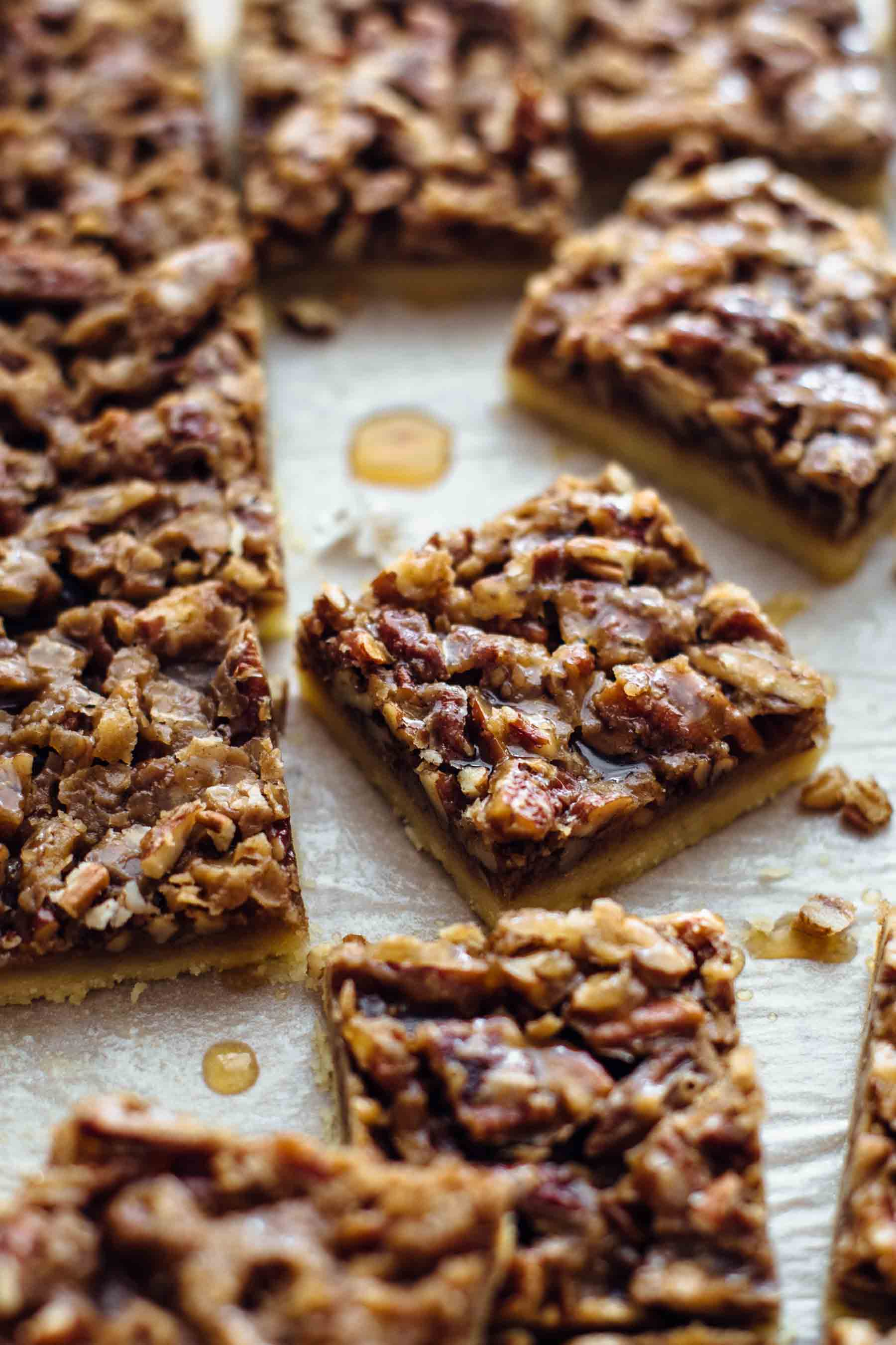 Cut Pecan Pie Shortbread Bars