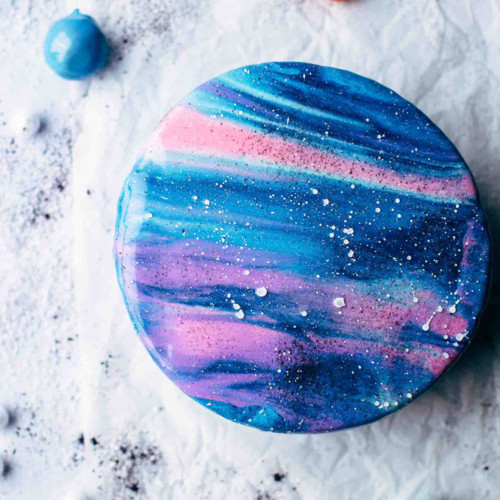 How To Make A Mirror Glaze Galaxy Cake