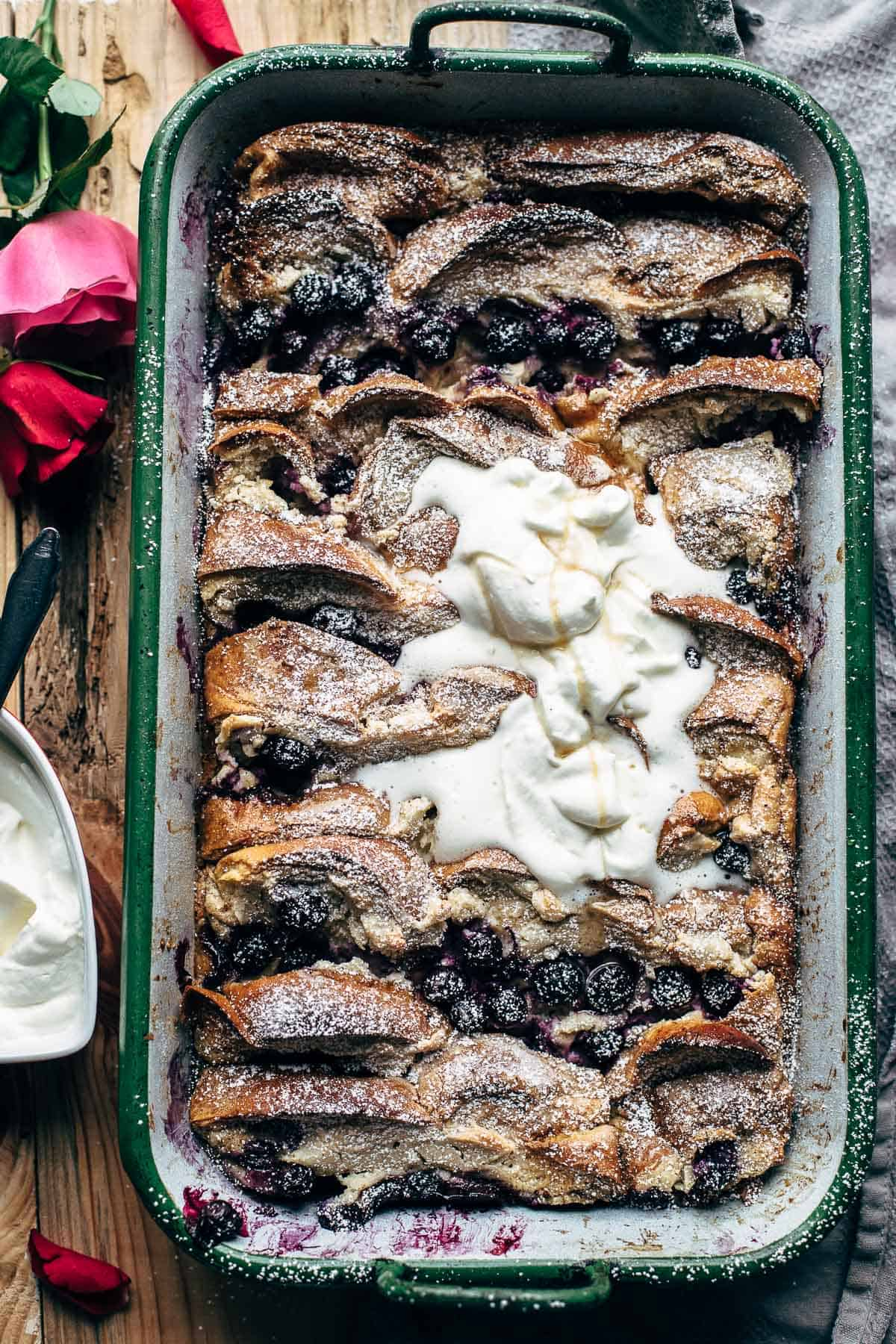 Blueberry Cream Cheese French Toast Bake