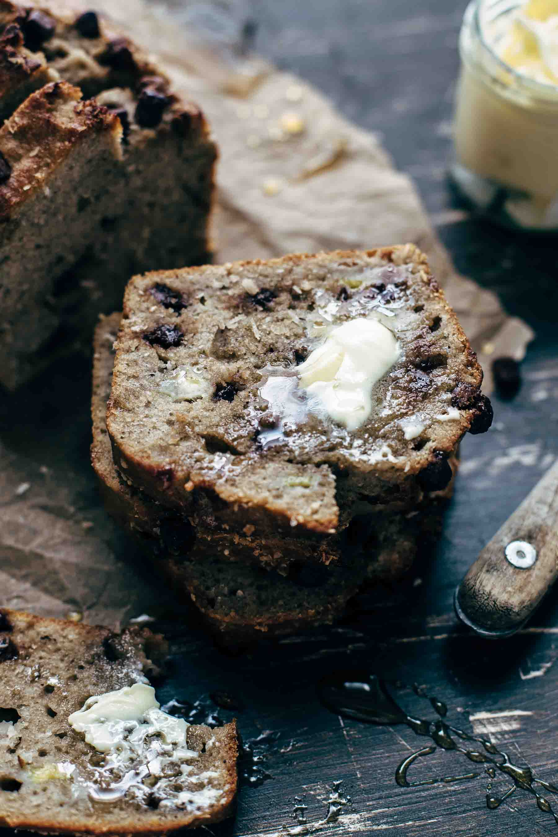 Chocolate Banana Coconut Bread Recipe