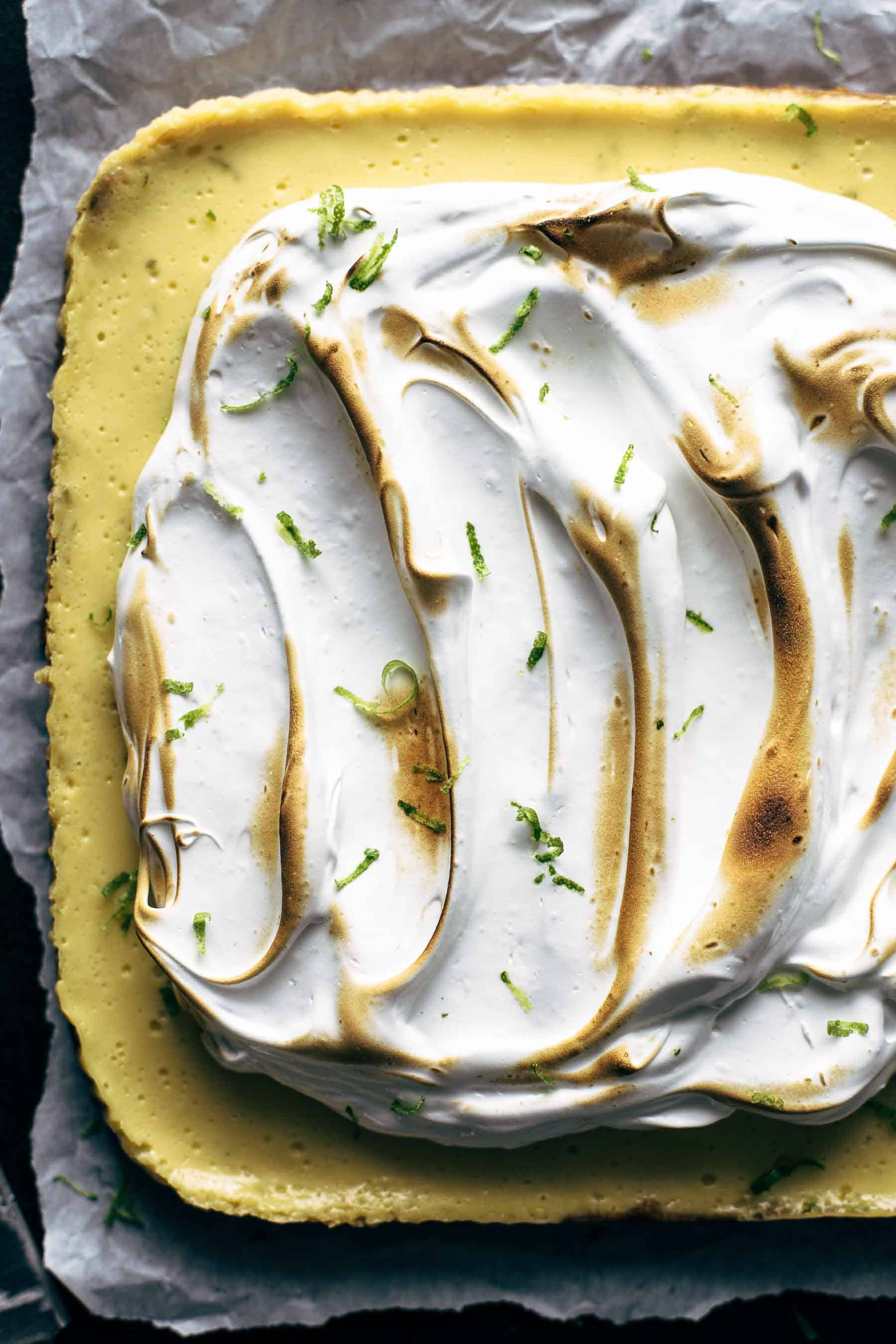 Easy Key Lime Bars with Meringue