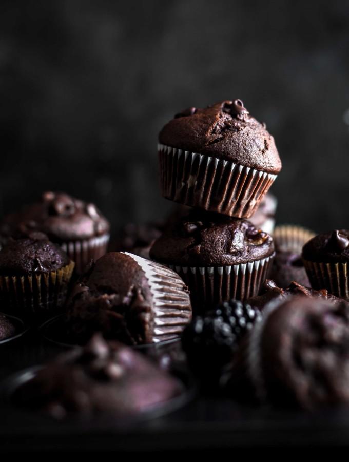 Stapled Chocolate Banana Muffins