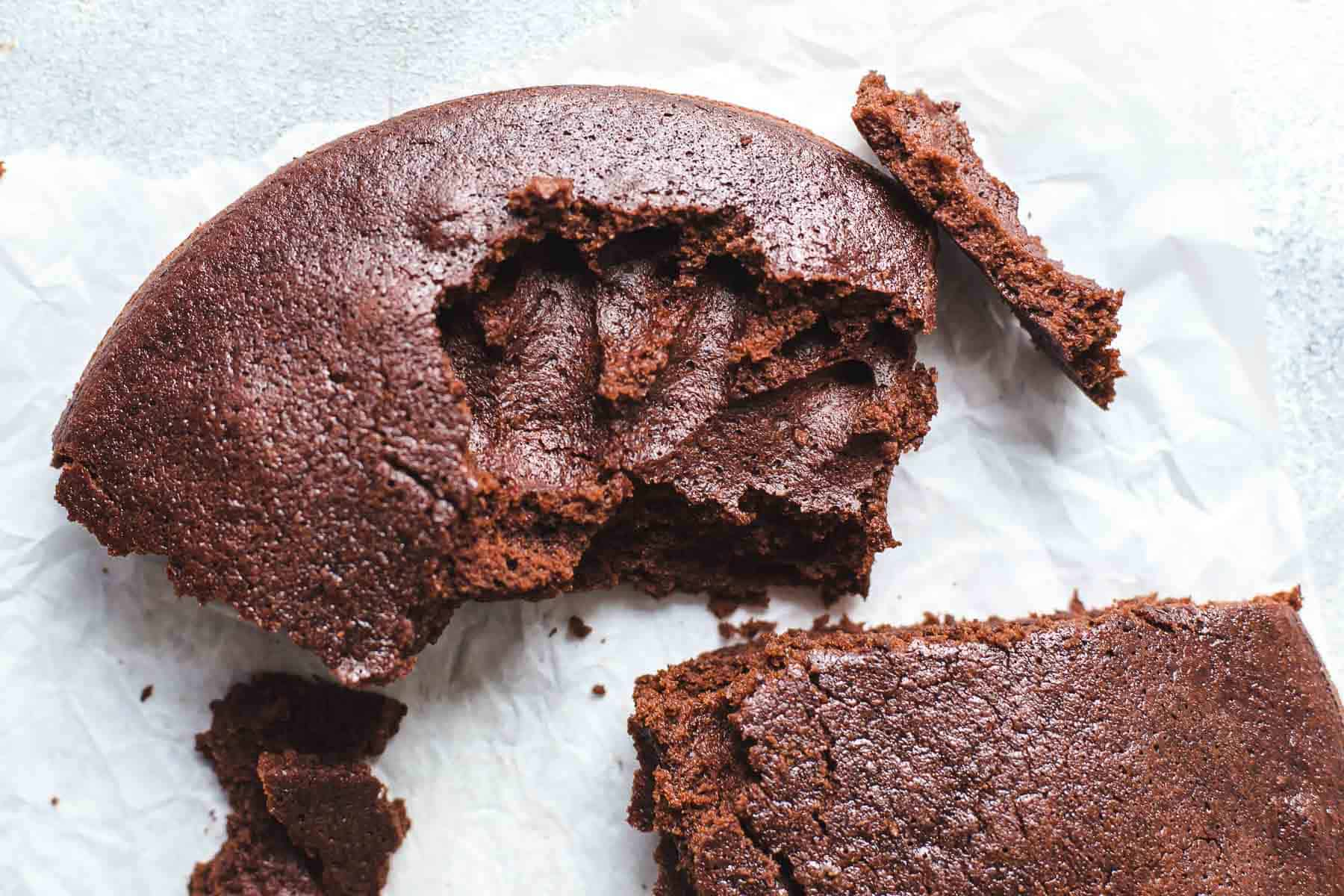 Overbaked chocolate cake