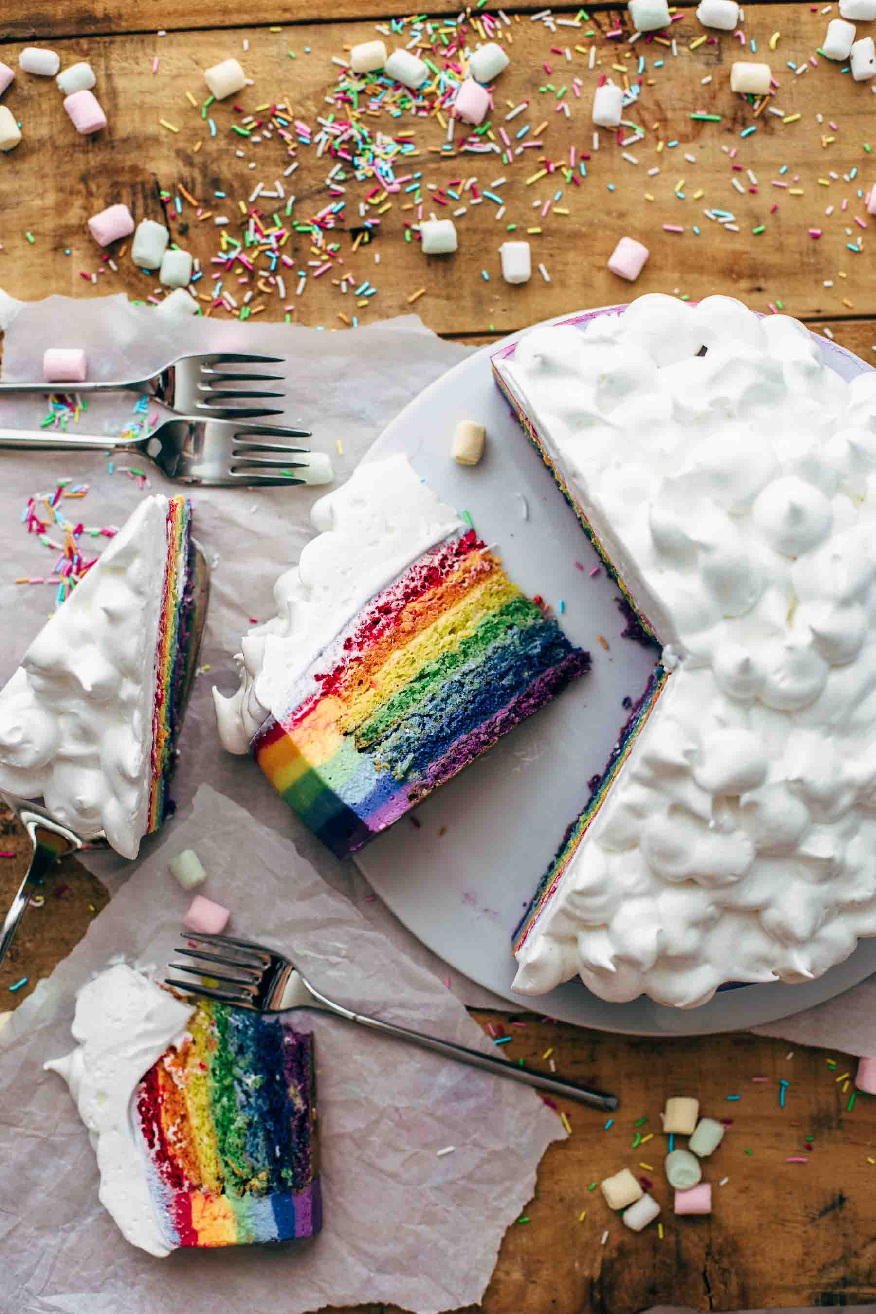 How To Make A Rainbow Cake Recipe Video Also The Crumbs Please