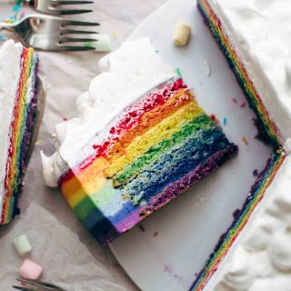 Colorful Rainbow Cake Recipe