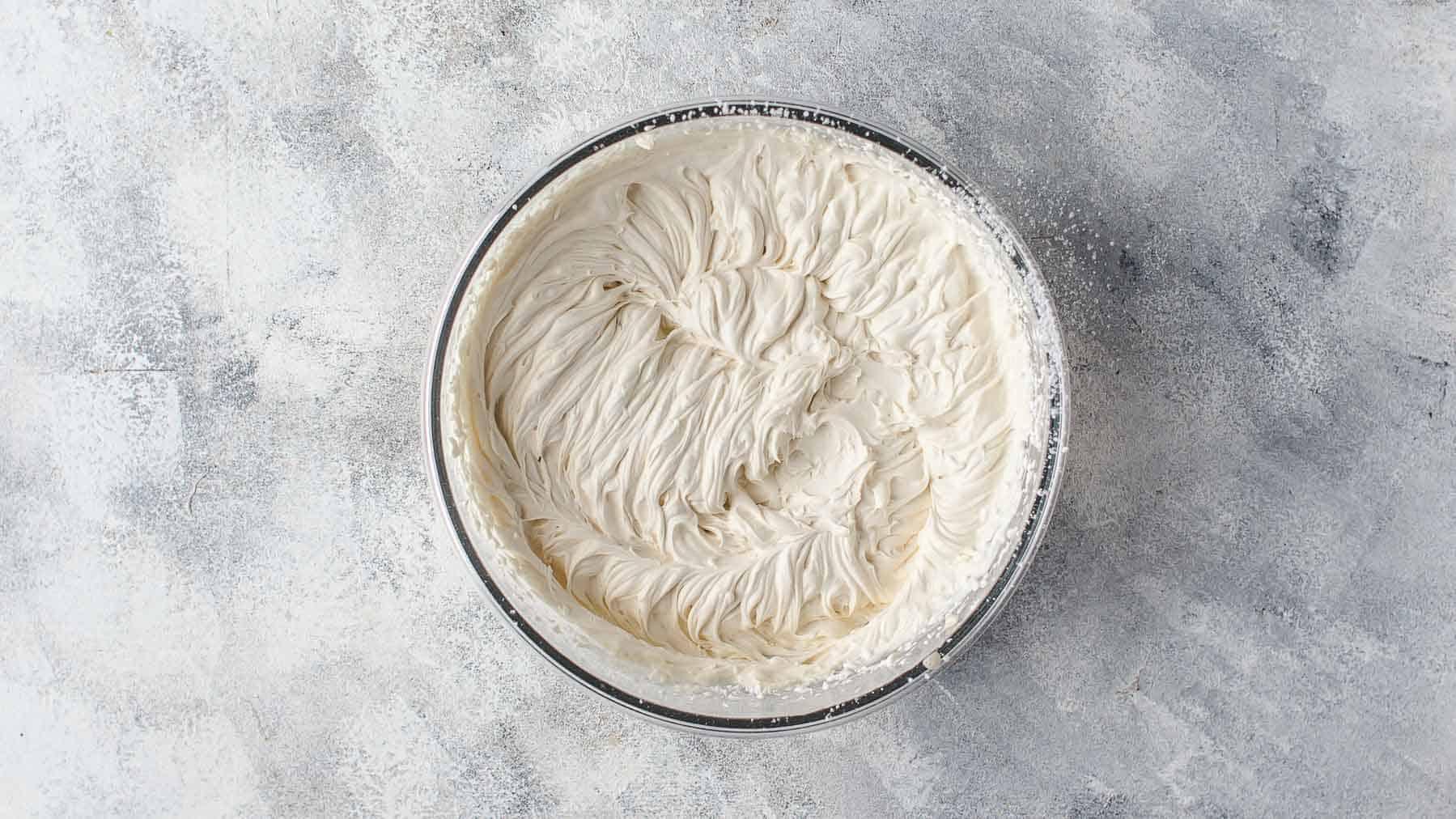 Mixed mascarpone cream