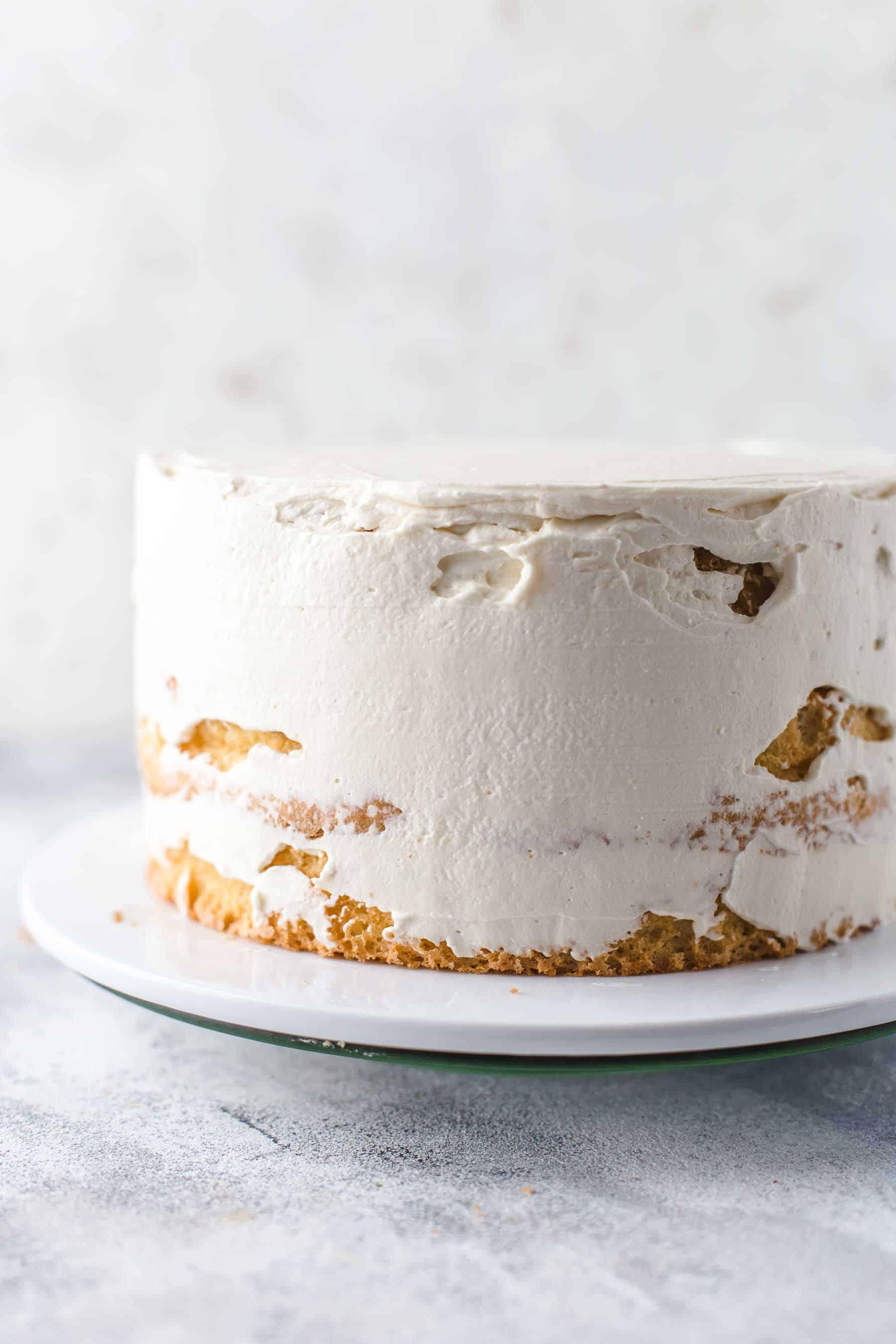 Frosted Tiramisu Cake