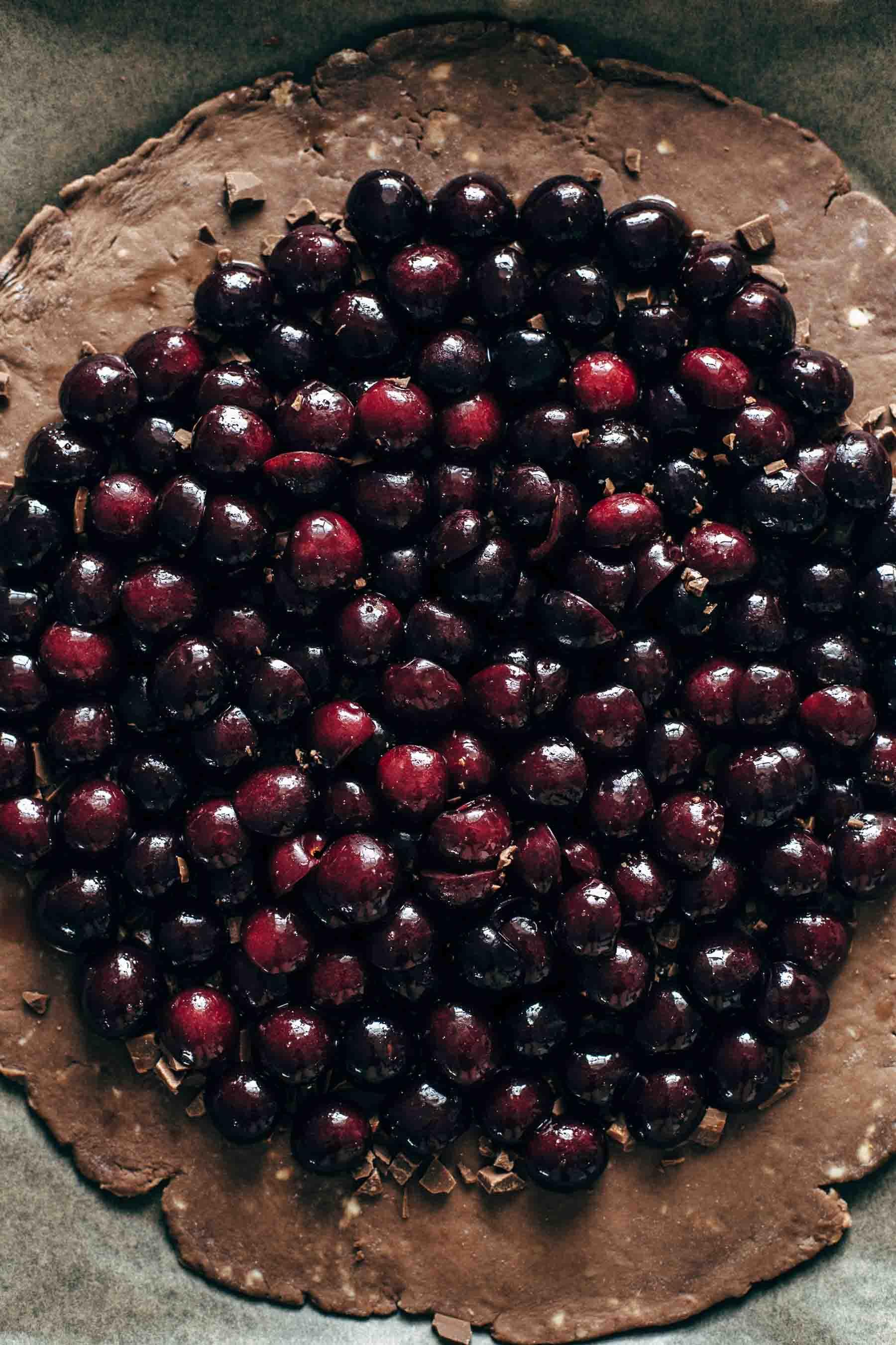 Chocolate Cherry Galette Recipe