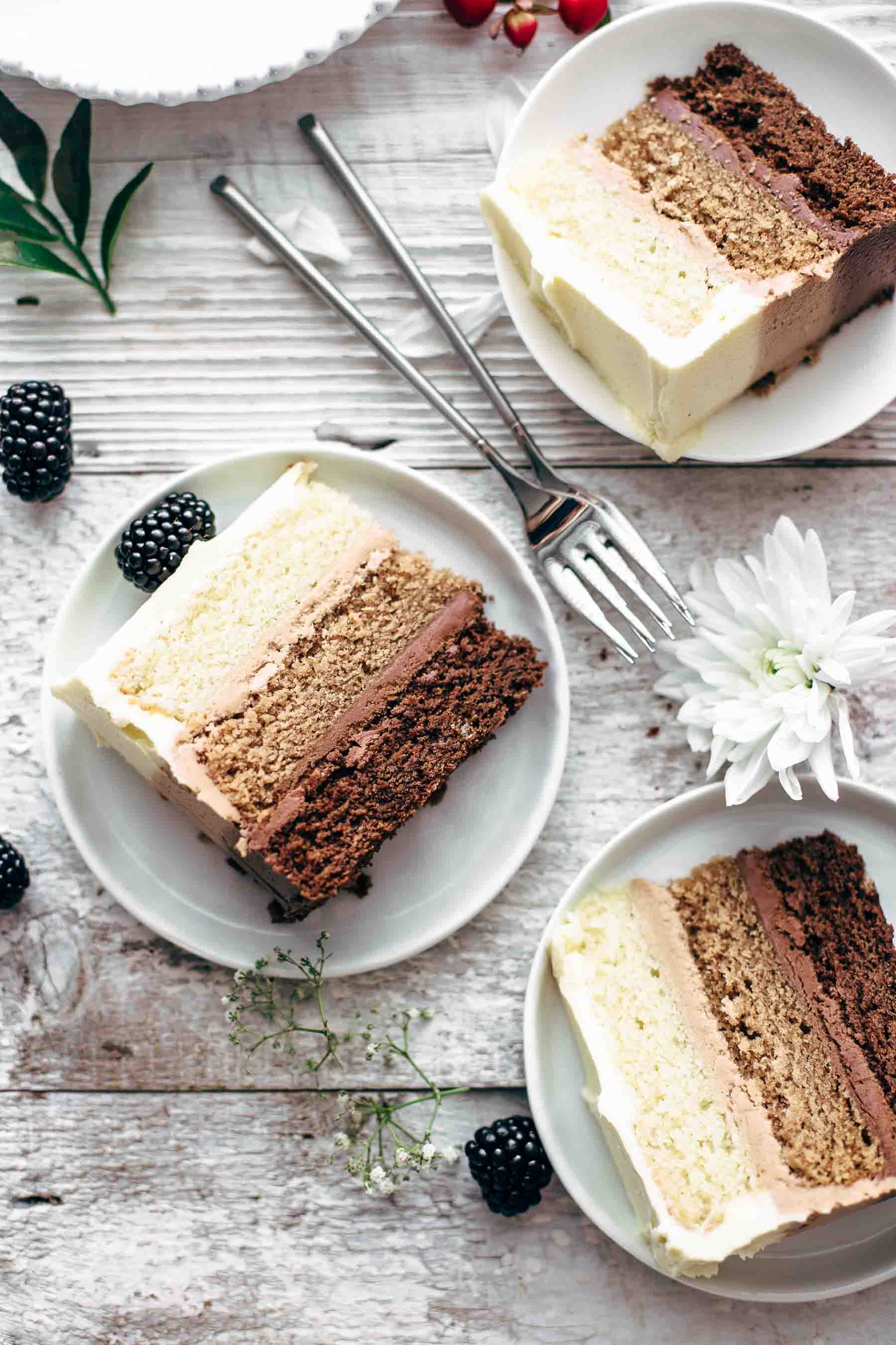 Triple Chocolate Ombré Cake Recipe
