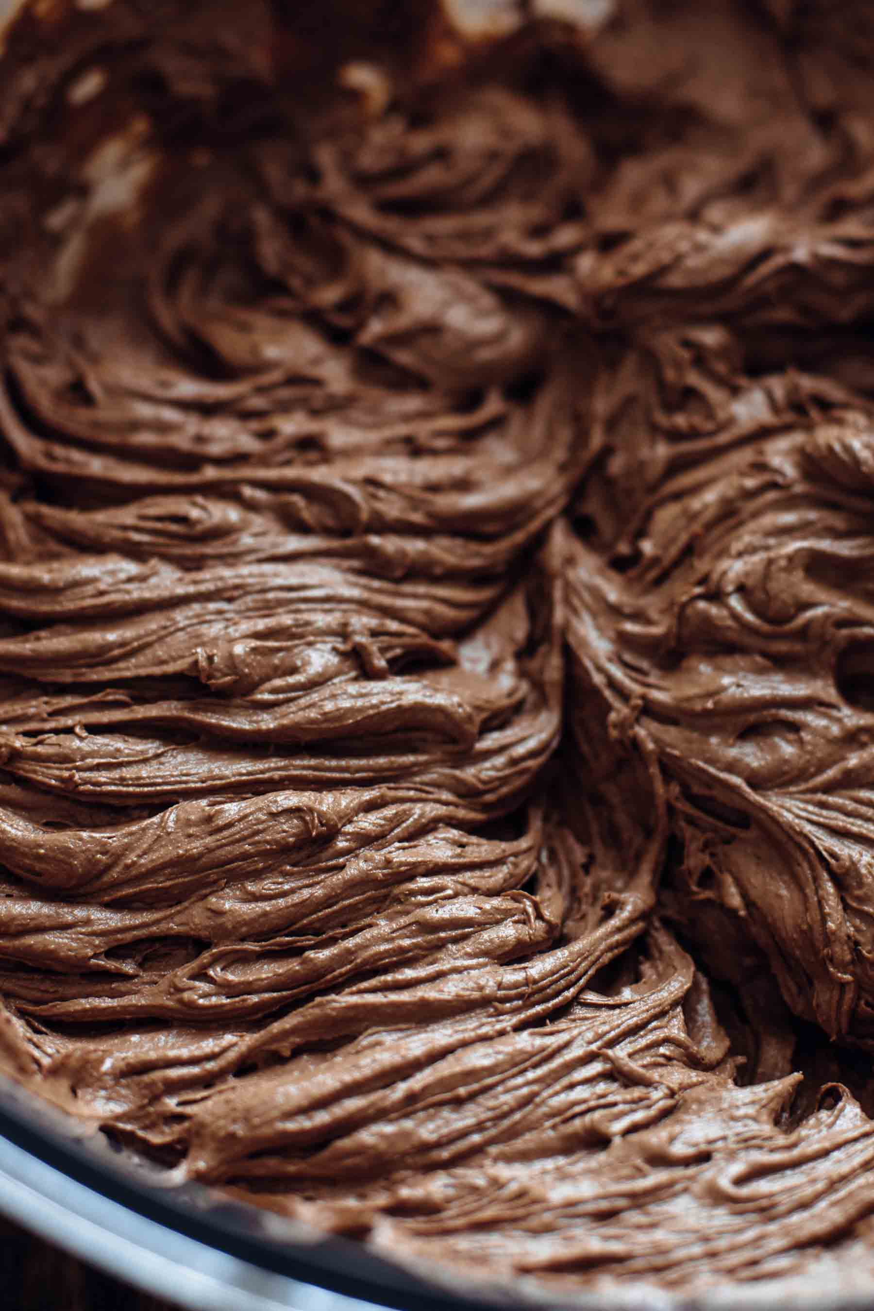Dark Chocolate Frosting for Brownie Cupcakes Recipe