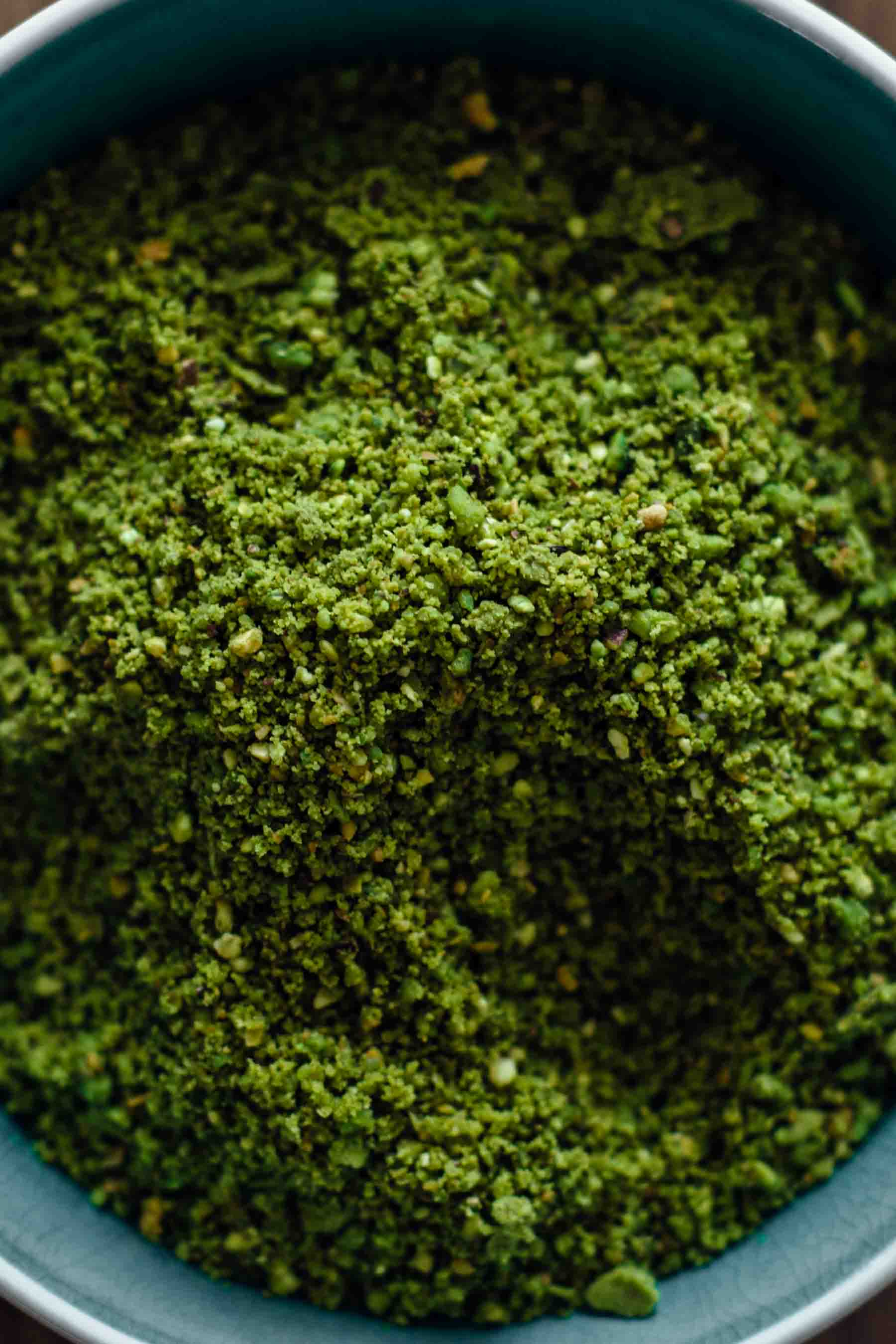 Ground Pistachio for Chocolate Pistachio Cookies Recipe