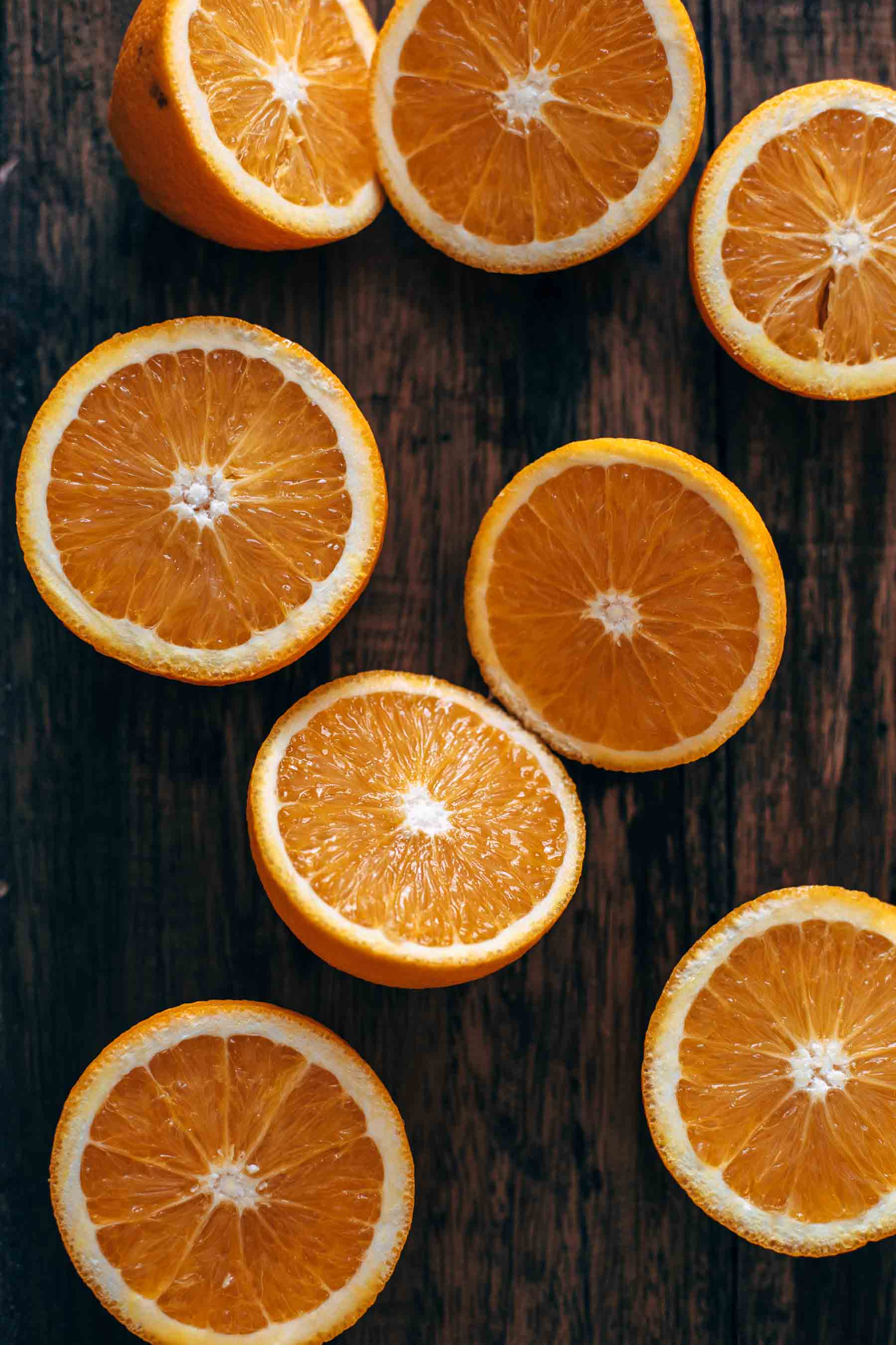 Cut Oranges for Dark Chocolate Orange Cupcakes Recipe
