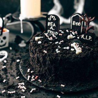 Death-By-Chocolate Halloween Cake