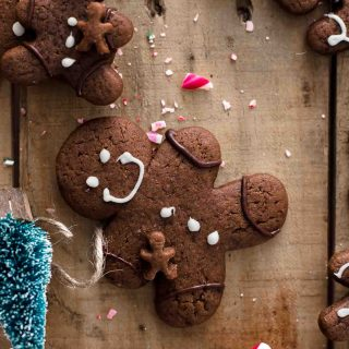Chocolate Gingerbread Men Cookies