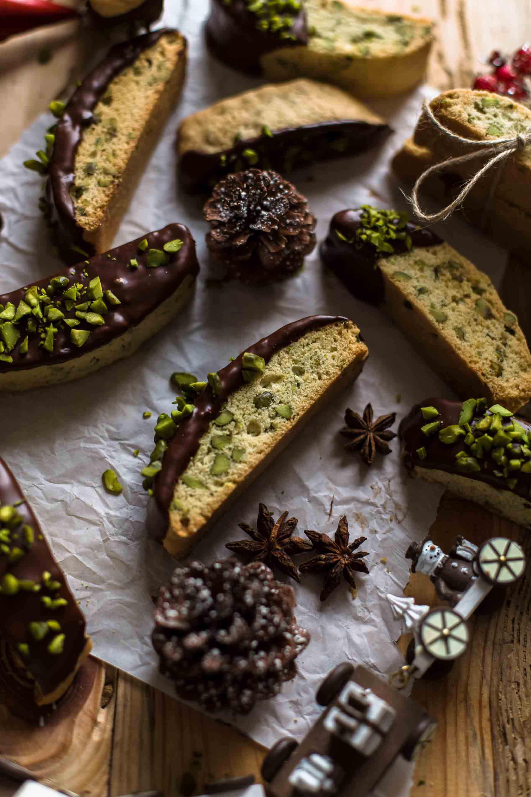 Chocolate Pistachio Biscotti Recipe