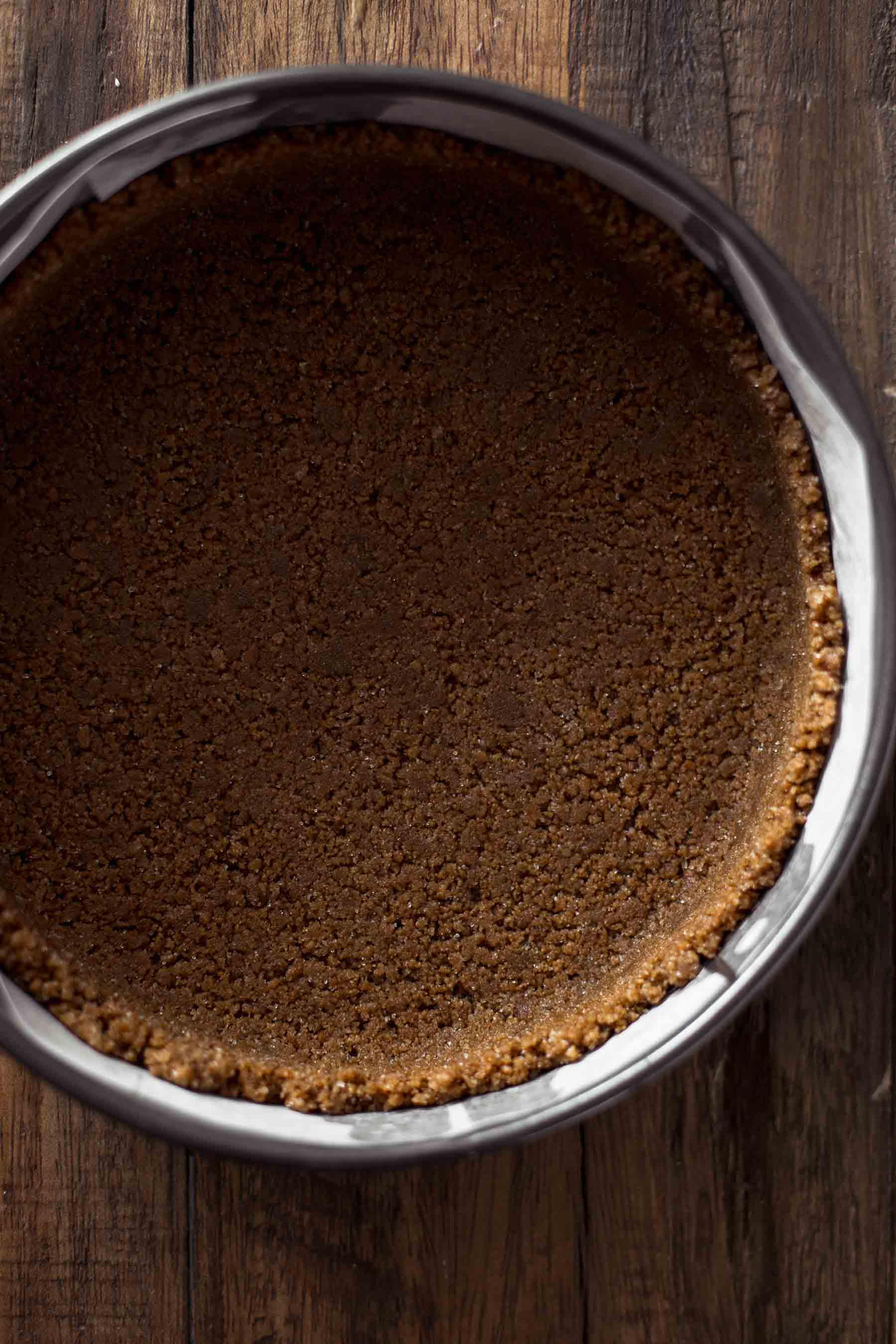 Unbaked gingerbread crust
