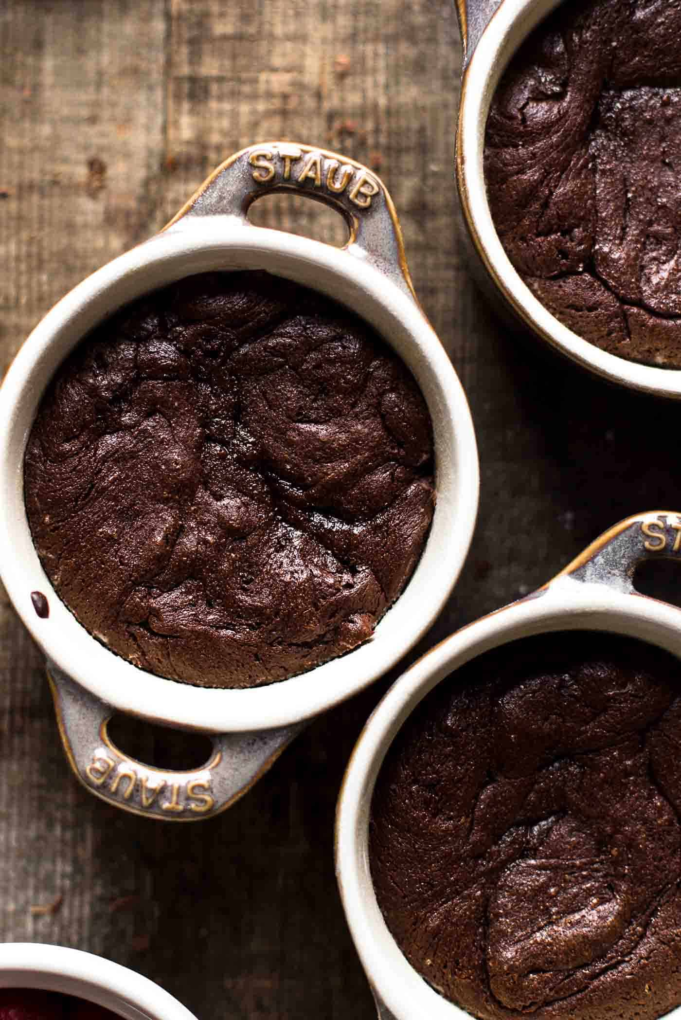 Baked Mini Chocolate Cake in Ramekin