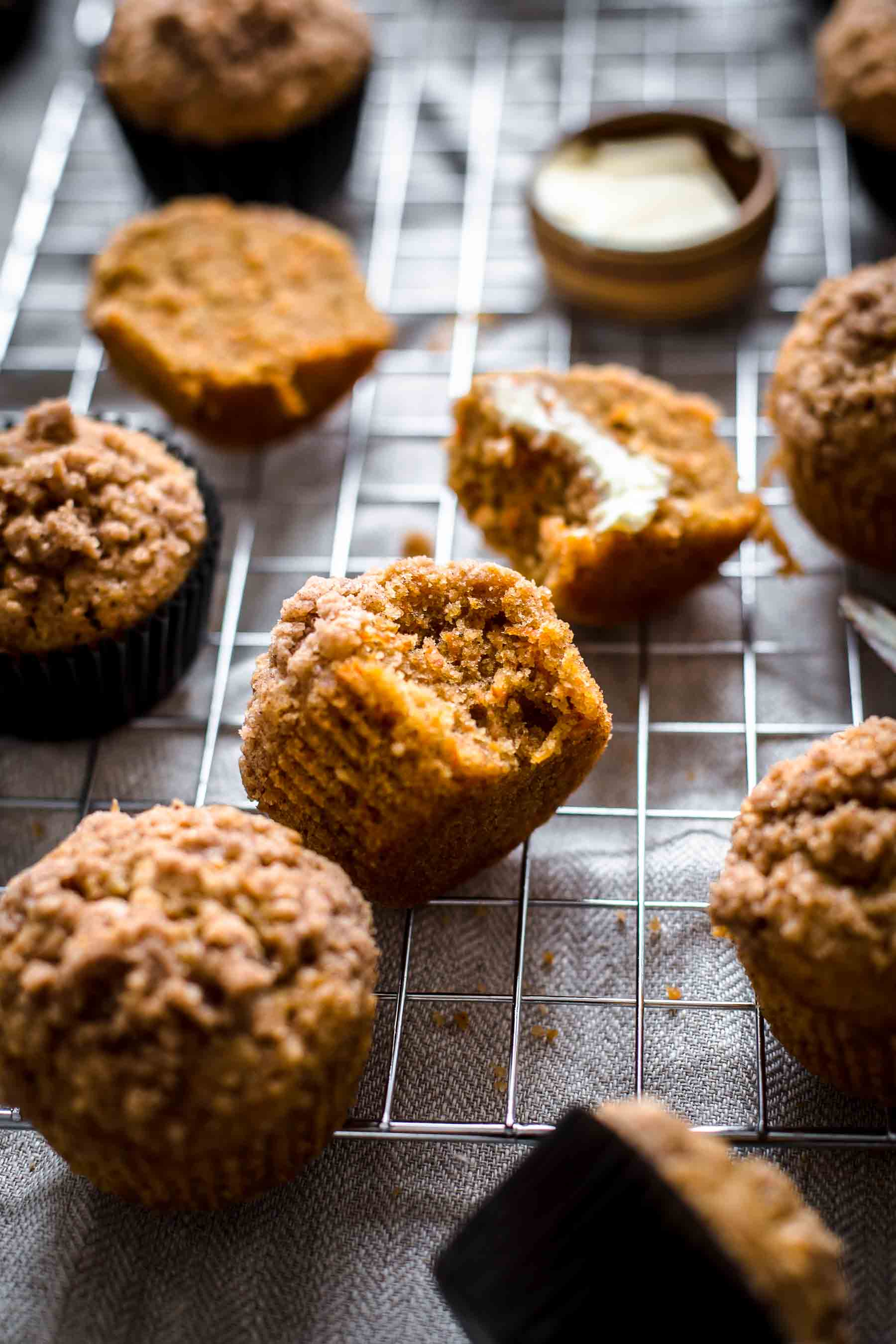 Carrot Cake Muffins from top down