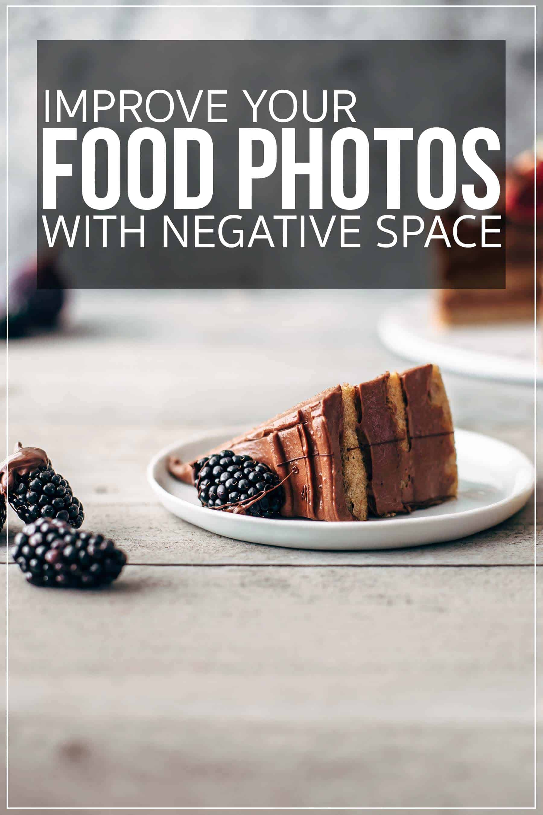 Food photography with lots of negative space and copy