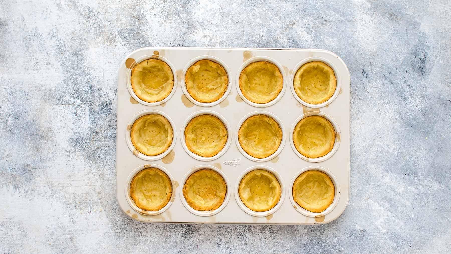 blind baked tartlet crust