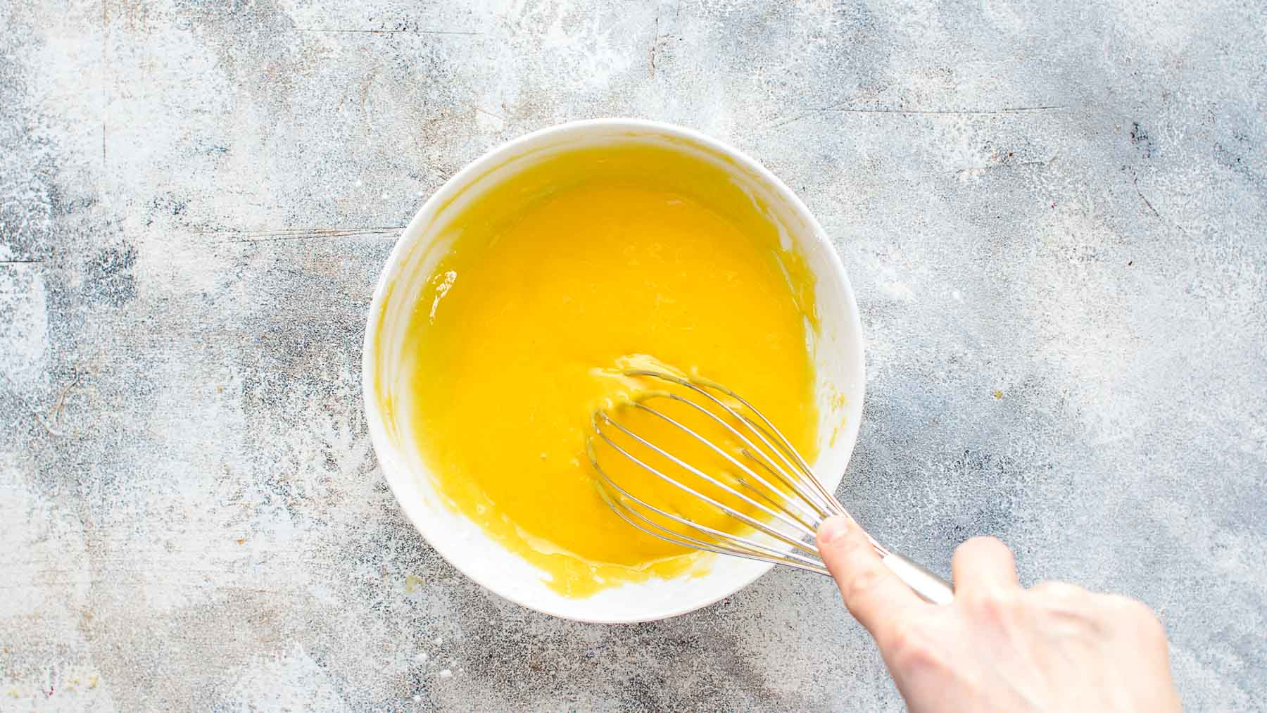egg yolks and cornstarch whisked together in small bowl