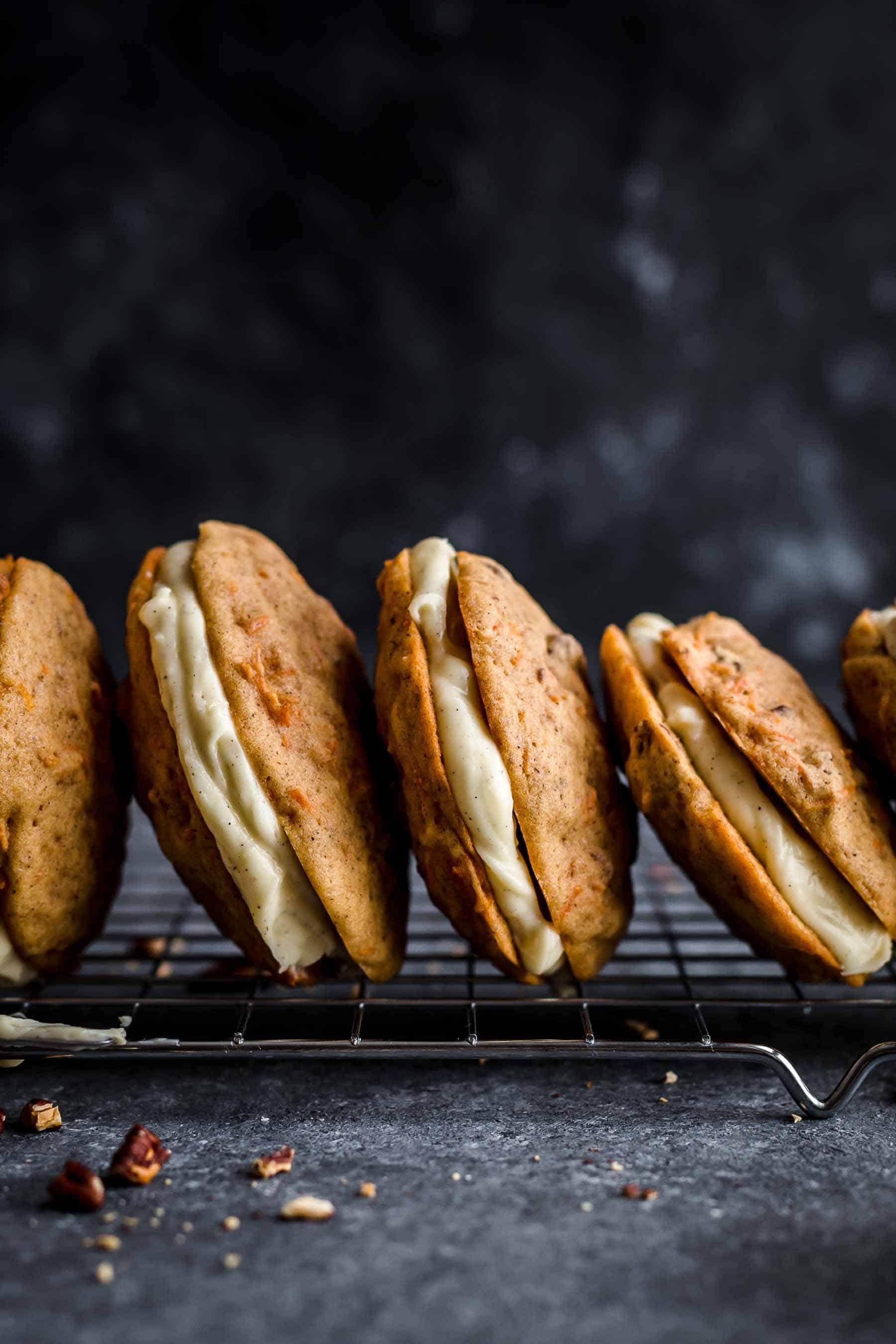 Close-up shot of Carrot Cake Cookies