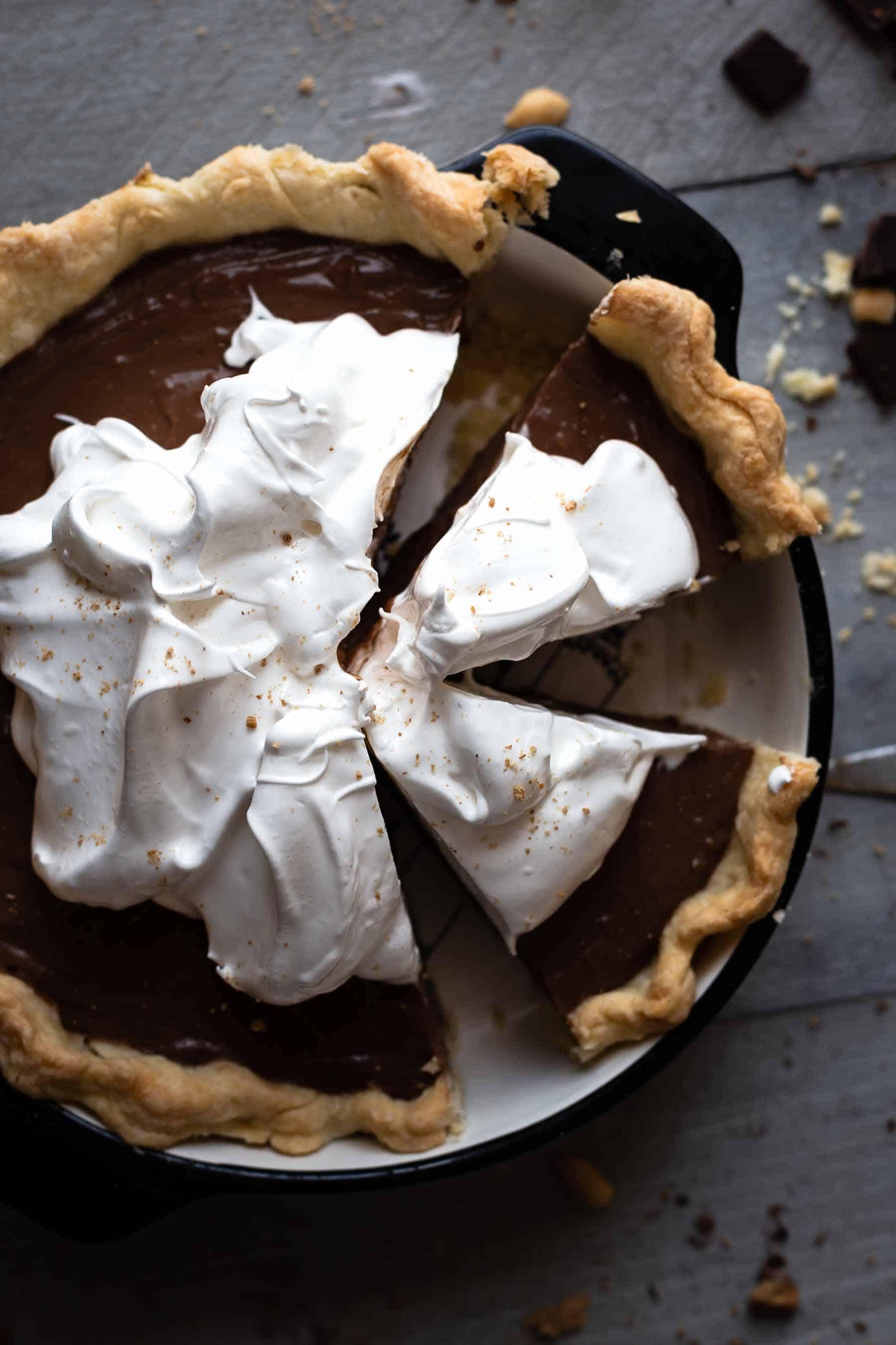 slices of chocolate cream pie
