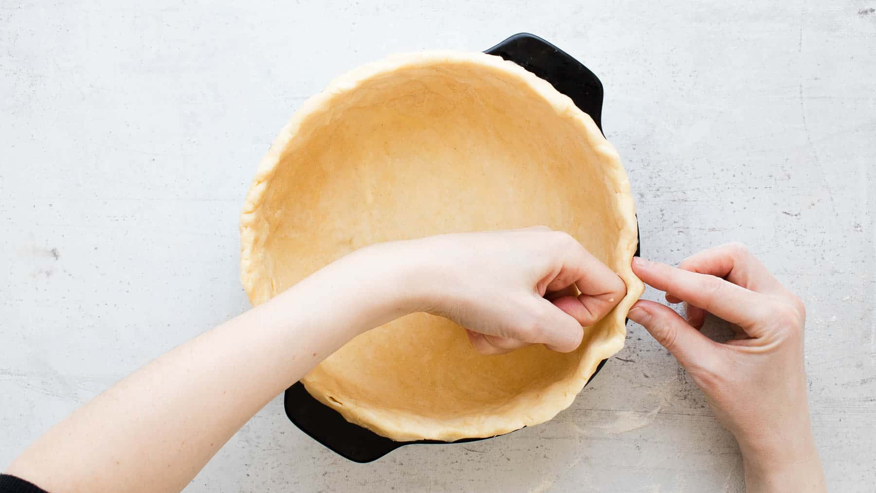 forming homemade crust in pan