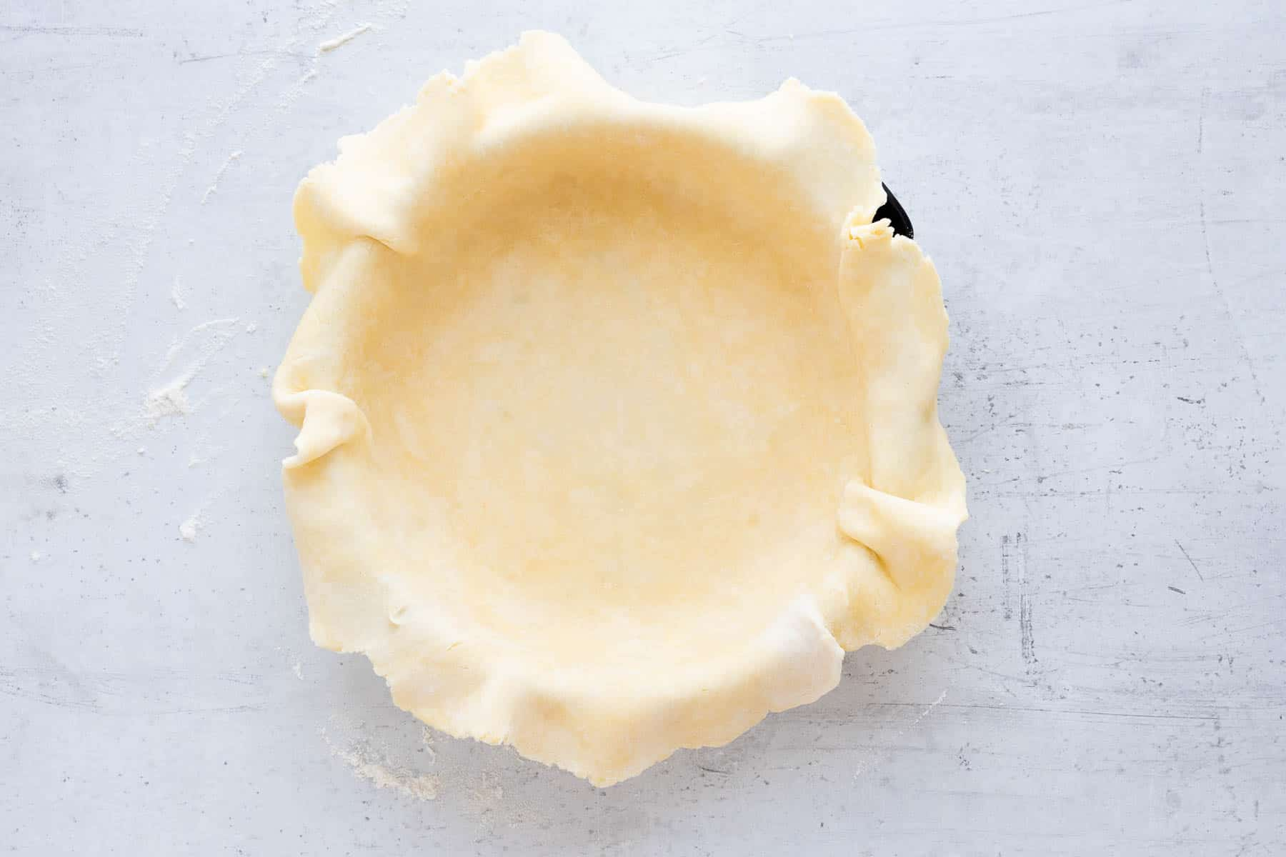 pie crust in a pie pan