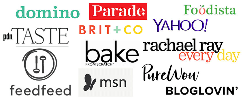 collage of logos from brands which featured also the crumbs please