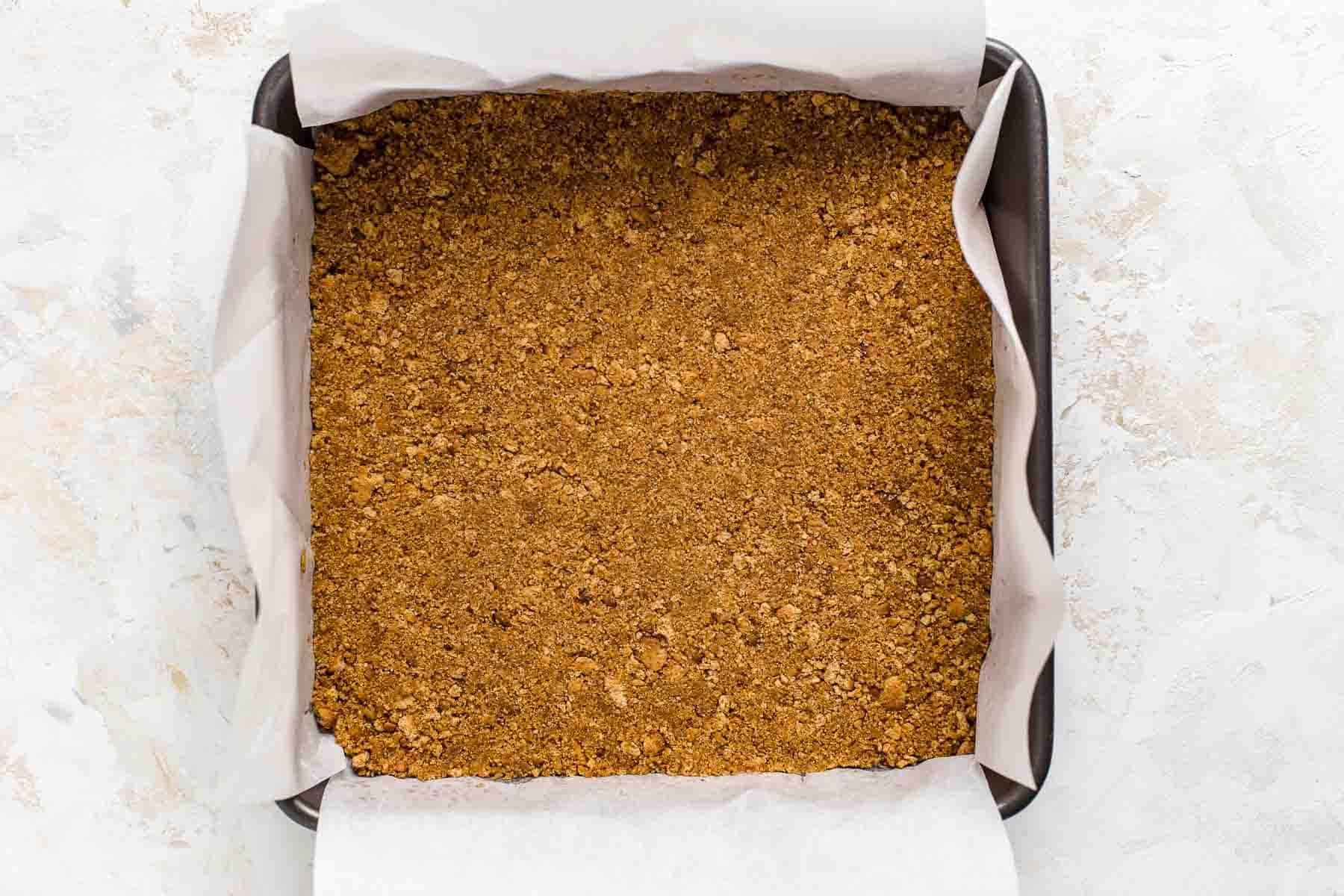 graham cracker crust in pan