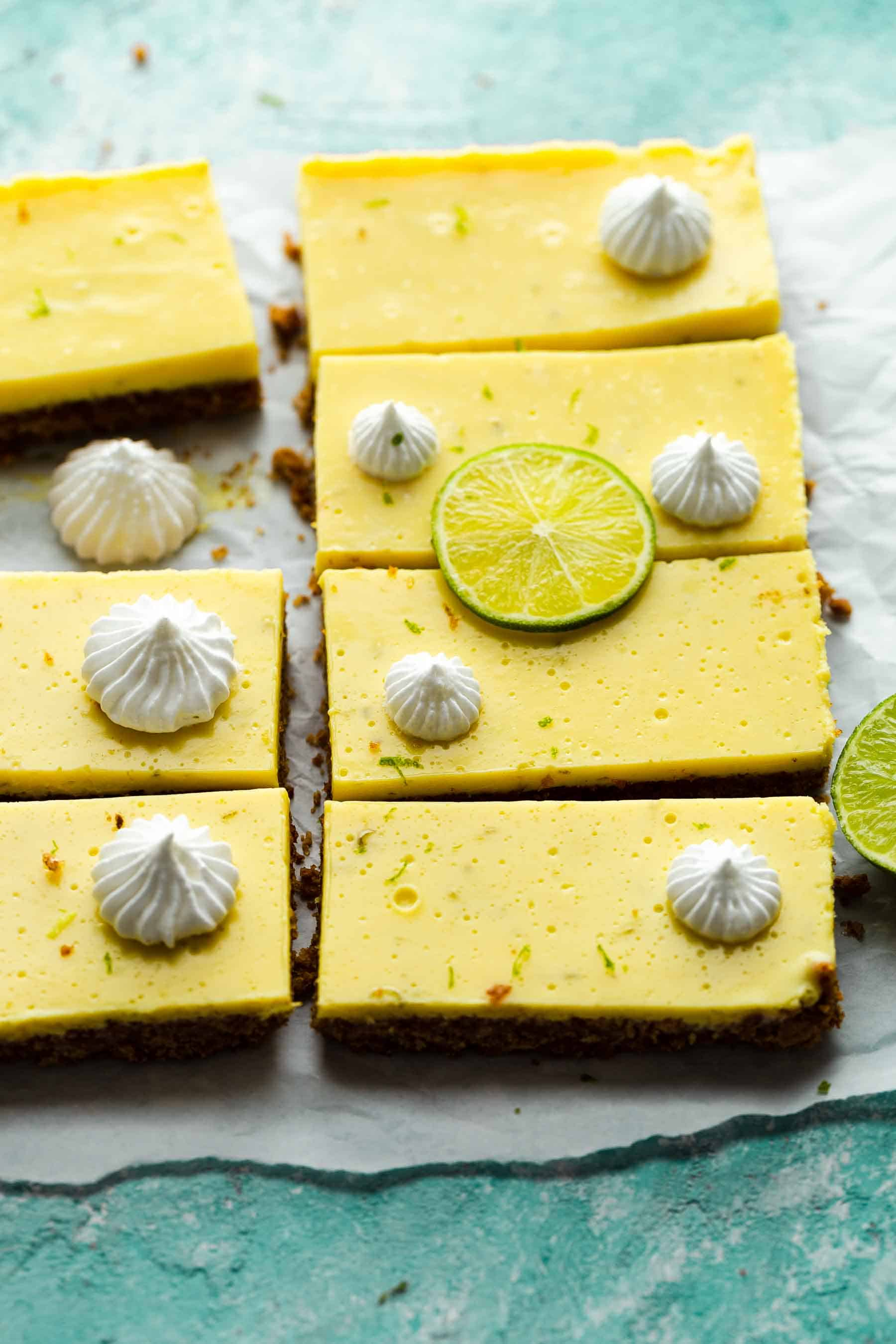 easy key lime bars on countertop