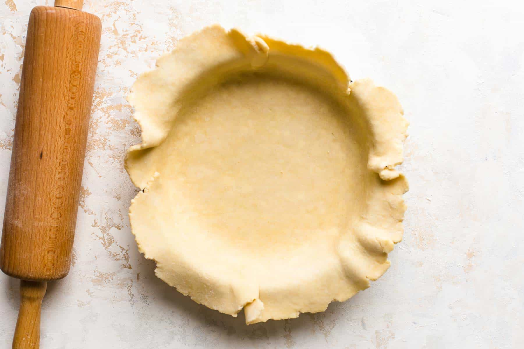 pie crust in a pan