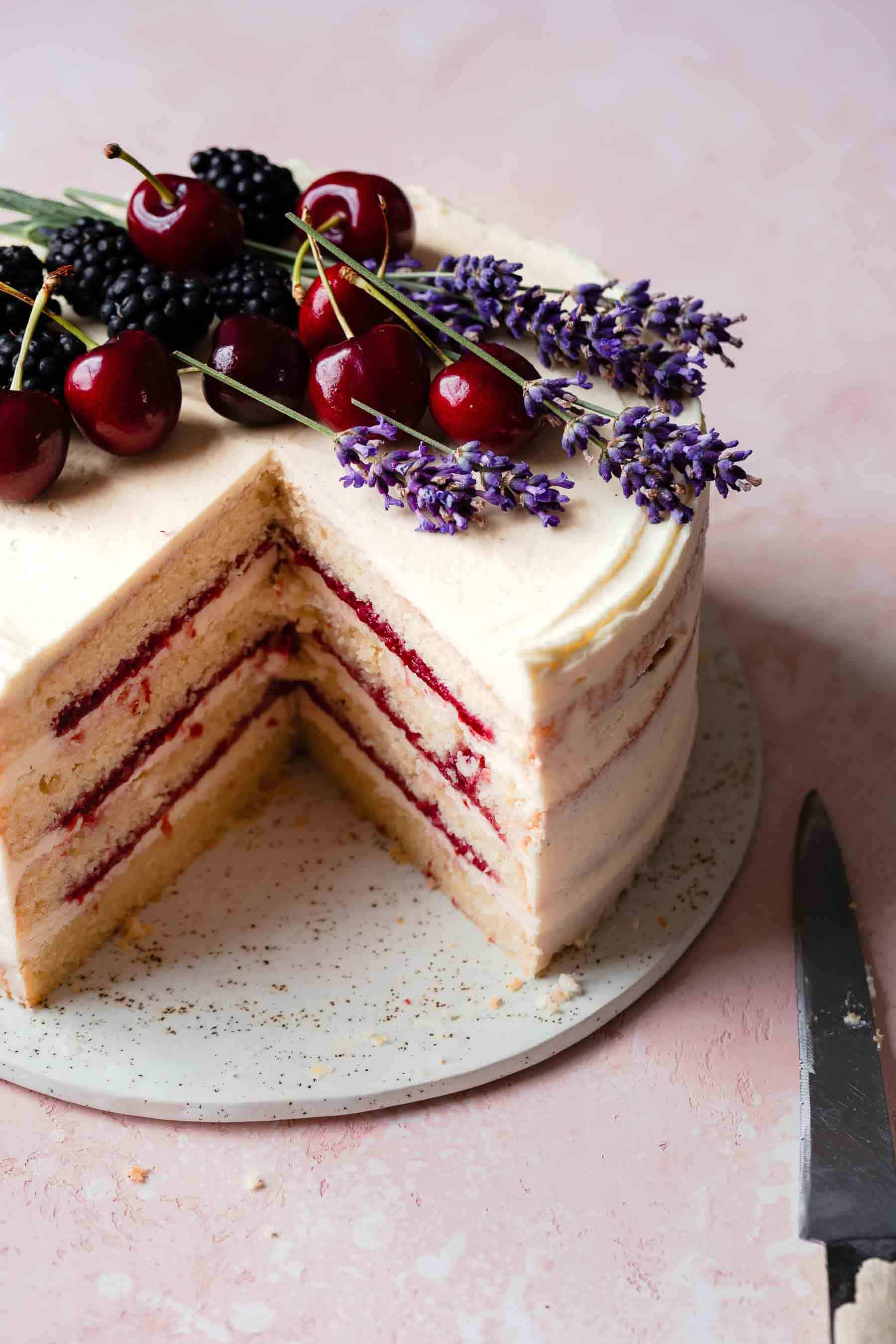 FRESH CHERRY CAKE RECIPE FROM SCRATCH ALSO THE CRUMBS PLEASE