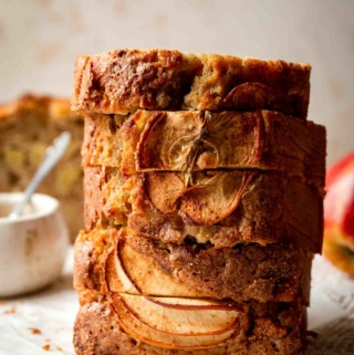 stacked quick bread on table