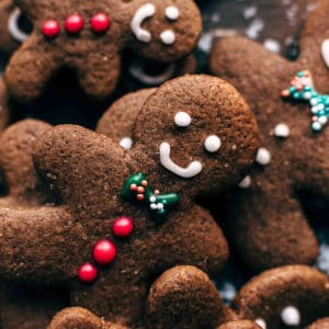 Decorative close up picture of gingerbread men