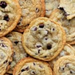 Batch of cookies laying unorganized above and next to each other
