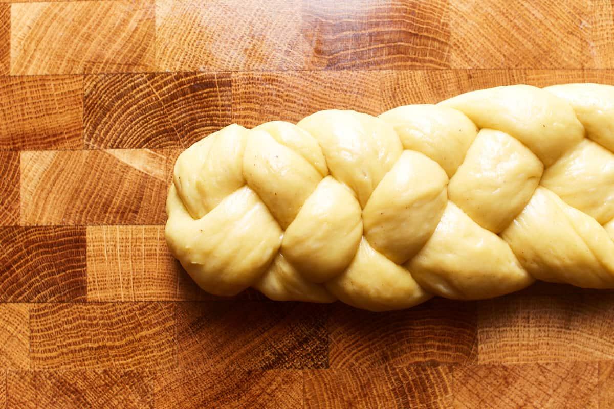 Braided dough end
