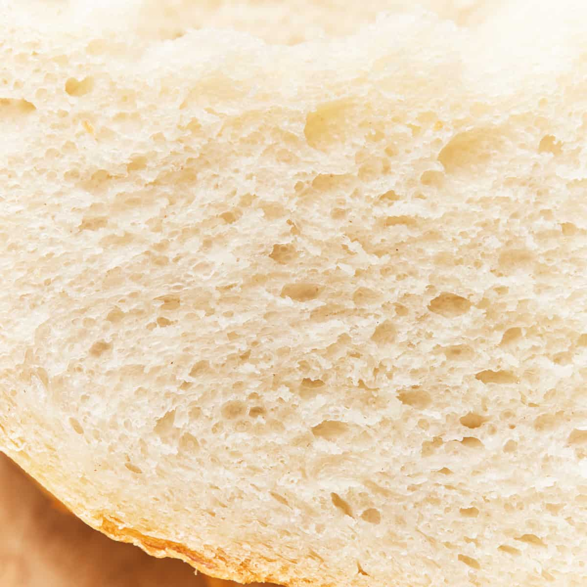 Close up of the bread crumb structure